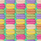 Modelo lindo inconsútil de los macarons Imagen de archivo libre de regalías