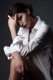 Modelo lindo novo Fotos de Stock Royalty Free