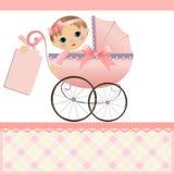 Modelo lindo para la tarjeta del bebé Foto de archivo libre de regalías