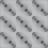 Modelo linear blanco y negro psicodélico Fotografía de archivo