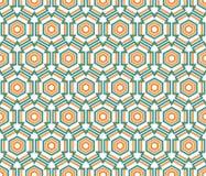 Modelo linear del hexágono Imágenes de archivo libres de regalías