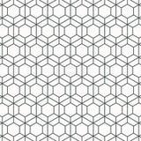 Modelo linear geom?trico del vector, repitiendo la l?nea fina hex?gono y la forma del trapezoide gr?fico limpio para imprimir, te stock de ilustración