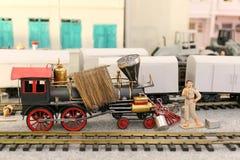 Modelo locomotivo do brinquedo Fotografia de Stock Royalty Free