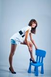 Modelo Long-legged Imagens de Stock
