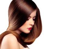 Modelo longo do cabelo Imagem de Stock Royalty Free