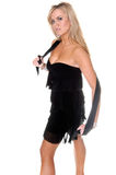 Modelo louro glamoroso no vestido Imagem de Stock Royalty Free