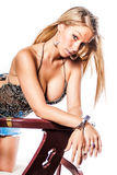 Modelo louro 'sexy' da menina/forma Fotografia de Stock