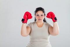 Modelo más del boxeo de la talla Foto de archivo libre de regalías