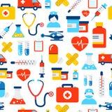 Modelo médico y de la atención sanitaria de los iconos Fotos de archivo libres de regalías