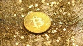 Modelo macro Created As Reward de Bitcoin para el proceso minero almacen de metraje de vídeo