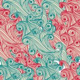 Modelo a mano abstracto inconsútil colorido, Imagen de archivo libre de regalías