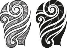 Modelo maorí del tatuaje stock de ilustración