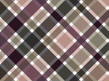 Modelo marrón de la tela escocesa del café Fotos de archivo