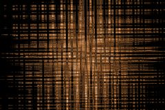 Modelo marrón geométrico del extracto en el fondo negro, diseño de elementos imagen de archivo libre de regalías