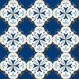 Modelo marroquí Textura de la teja de la decoración que teja el modelo inconsútil libre illustration