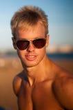 Modelo masculino foto de stock
