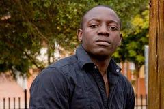 Modelo masculino africano Fotografia de Stock Royalty Free