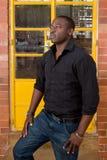 Modelo masculino africano Fotografía de archivo libre de regalías