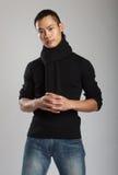 Modelo masculino asiático novo foto de stock royalty free