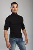 Modelo masculino asiático novo foto de stock
