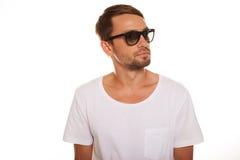 Modelo masculino con las gafas de sol Fotografía de archivo libre de regalías