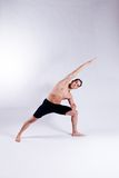 Modelo masculino de la yoga Imagen de archivo