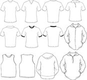 Modelo masculino de las camisas stock de ilustración