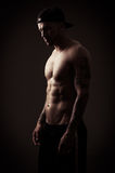 Modelo masculino descamisado Fotografía de archivo libre de regalías