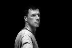 Modelo masculino em preto e branco Foto de Stock Royalty Free