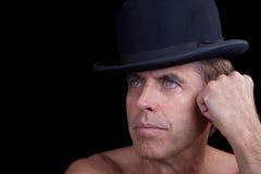 Modelo masculino em um chapéu Imagens de Stock