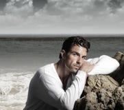 Modelo masculino hermoso Foto de archivo