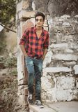 Modelo masculino indio imagenes de archivo