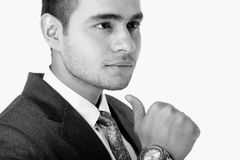 Modelo masculino indio en ropa del negocio Foto de archivo