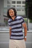 Modelo masculino jamaicano de moda Imagen de archivo libre de regalías