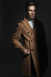 Modelo masculino misterioso e sério Fotografia de Stock
