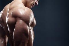 Modelo masculino Muscled que mostra o seu traseiro Imagens de Stock