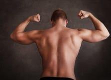 Modelo masculino muscular hermoso Fotos de archivo