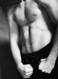 Modelo masculino muscular hermoso Foto de archivo