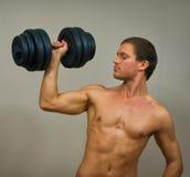 Modelo masculino muscular hermoso Fotografía de archivo