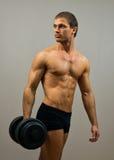 Modelo masculino muscular hermoso Imagen de archivo libre de regalías
