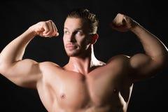 Modelo masculino musculoso Imagenes de archivo