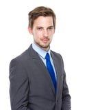 Modelo masculino no terno de negócio foto de stock