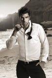 Modelo masculino 'sexy' Imagem de Stock Royalty Free