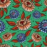 Modelo medievial inconsútil con las flores de la fantasía Fondo inconsútil floral para la materia textil, tela, cubiertas, papele stock de ilustración