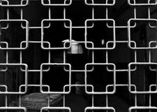 Modelo metálico de la parrilla Fotografía de archivo