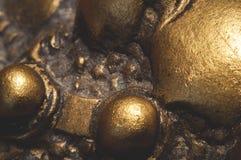 Modelo metálico del fondo de la joyería Fotografía de archivo