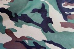 Modelo militar de la tela Fotos de archivo libres de regalías