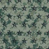 modelo militar del grunge inconsútil con las estrellas stock de ilustración