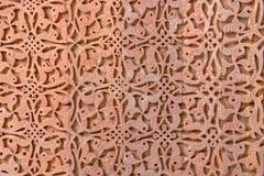 Modelo minar de la pared del qutub antiguo imagen de archivo libre de regalías