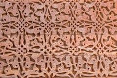 Modelo minar de la pared del qutub antiguo foto de archivo